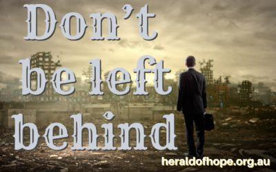 勿被撇下 Don't be left behind