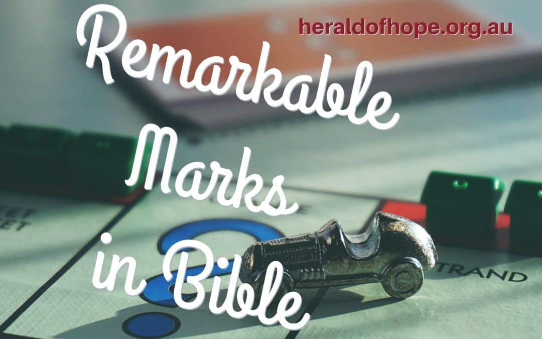 圣经中的记号 Remarkable Marks in Bible