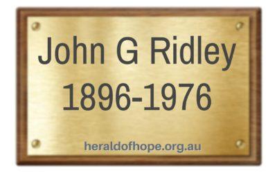 约翰韦力的故事 The Story of Evangelist John G Ridley M.C.